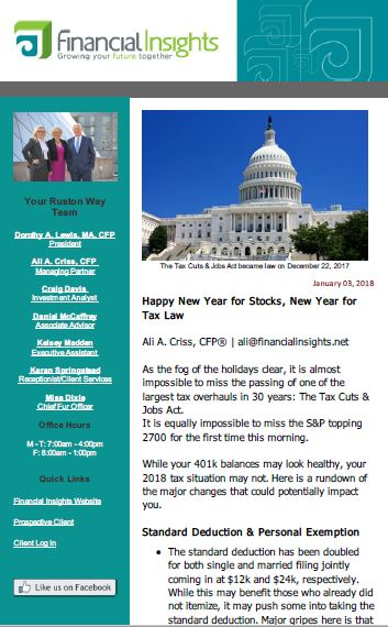 thumbnail of Financial Insights E-Newsletter