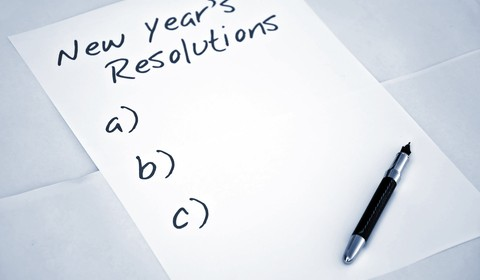 Picture of empty New Year's Resolution List